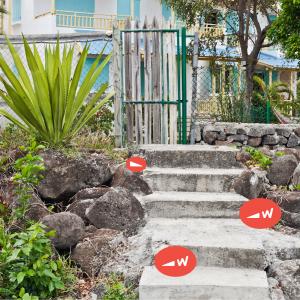 Plastic shims for leveling concrete steps or blocks