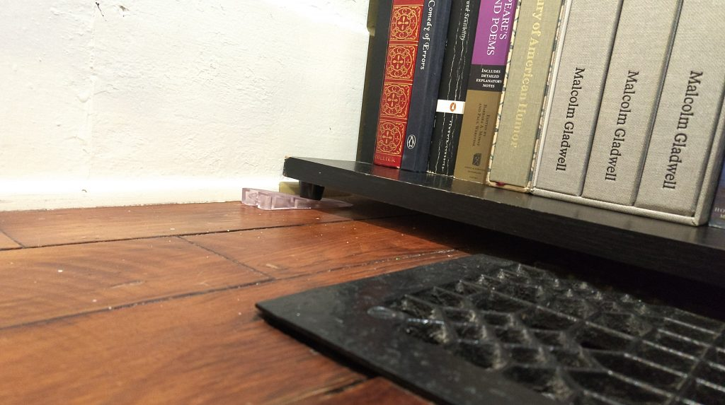 So If You Need The Soft Plastic To Protect Wood Of Shelf Can Stack It On Top A Hard Shim And They Wont Budge