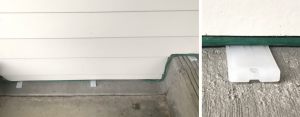 plastic shims used to wedge an electrical cord under siding.