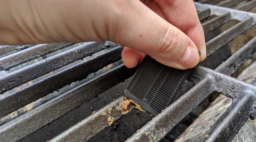 Scrape gunk off your grill with plastic wedges